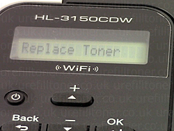 Replace toner message